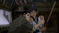 Bolin hugs Korra