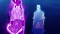 Korra encounters Aang