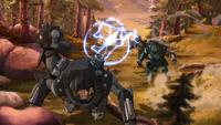 Mecha suit battle