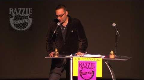 Russell Peters Accepts Razzie for M Night Shyamalan
