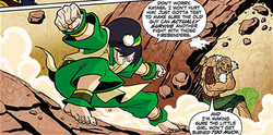 Toph fights Bumi