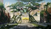 Ayuntamiento de la Ciudad con lianas