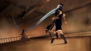 Ming-Hua utilizando sus brazos de agua