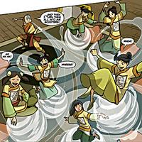 Aang entertaining the Official Avatar Aang Fan Club