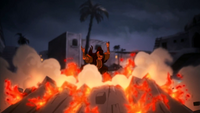 Ghazan creates lava