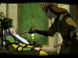 Kyoshi threatens the 46th Earth King