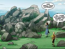 Комикс Р3 Разрушенная статуя