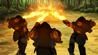 Mecha suits with flamethrowers