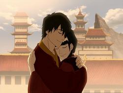 Zuko hugs Mai