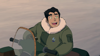Bolin in snowsuit