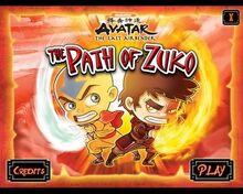 Avatar The Path of Zuko заставка