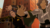 Lin and Suyin earthbending together