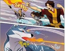 Комикс П1 сражение с волком