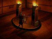 Aang wird von Zhao gefangen genommen