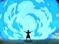 Azula escudo de fuego azul