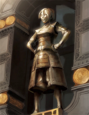 Toph's statue