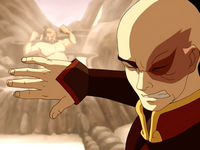 Zuko sees Iroh bathing
