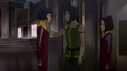 Korra reasoning with Opal