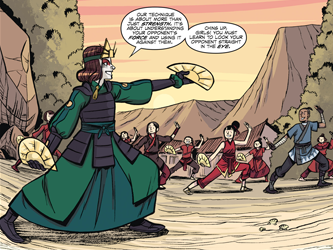 File:Suki trains the Fire Nation villagers.png