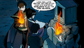 Aang, Zuko, Mai, and Kei Lo learn of the Kemurikage's origins.png