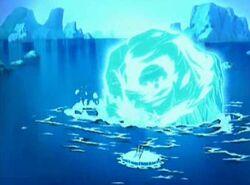Aang in ijsberg