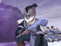 Sokka with war paint