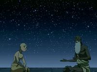 Pathik explicándole a Aang