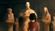 Jinora en el santuario del Templo Aire del Sur