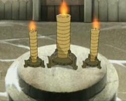 Tijd kaarsen