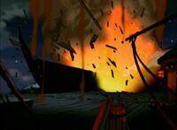 1х18 взрыв корабля