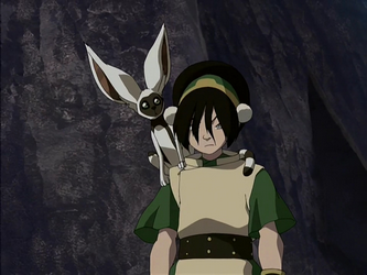 File:Annoyed Toph and Momo.png