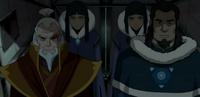 Tonraq, Zuko, Desna y Eska en la prisión de P'Li