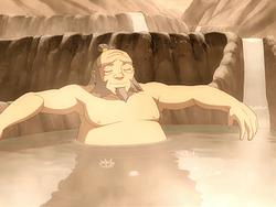 Iroh bathing