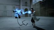 Mako disparando un relámpago después de absorberlo