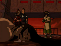 Drooling Ozai after his defeat