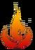Vuurnatie balans icoon