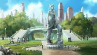 Korra's statue