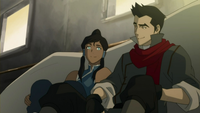 Korra and Mako talking
