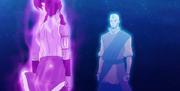Korra se encuentra con Aang