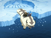 Sokka and Yue on Appa