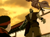 Combustion Man and Aang