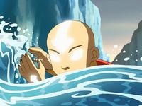 El Avatar Aang haciendo Agua Control