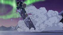 Korra earthbending against the Dark Avatar