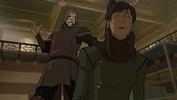 Amon taking Korra's bending
