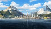 Vista lejana de Ciudad República