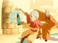 Aang and Gyatso