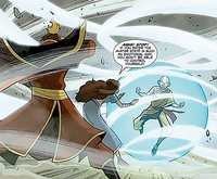 Aang entering the Avatar State