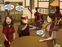 Team Avatar at Noriko's home