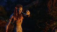 Neytiri with her hand up night 2