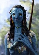 Avatar neytiri with bow by okiran9-d2z6m7w